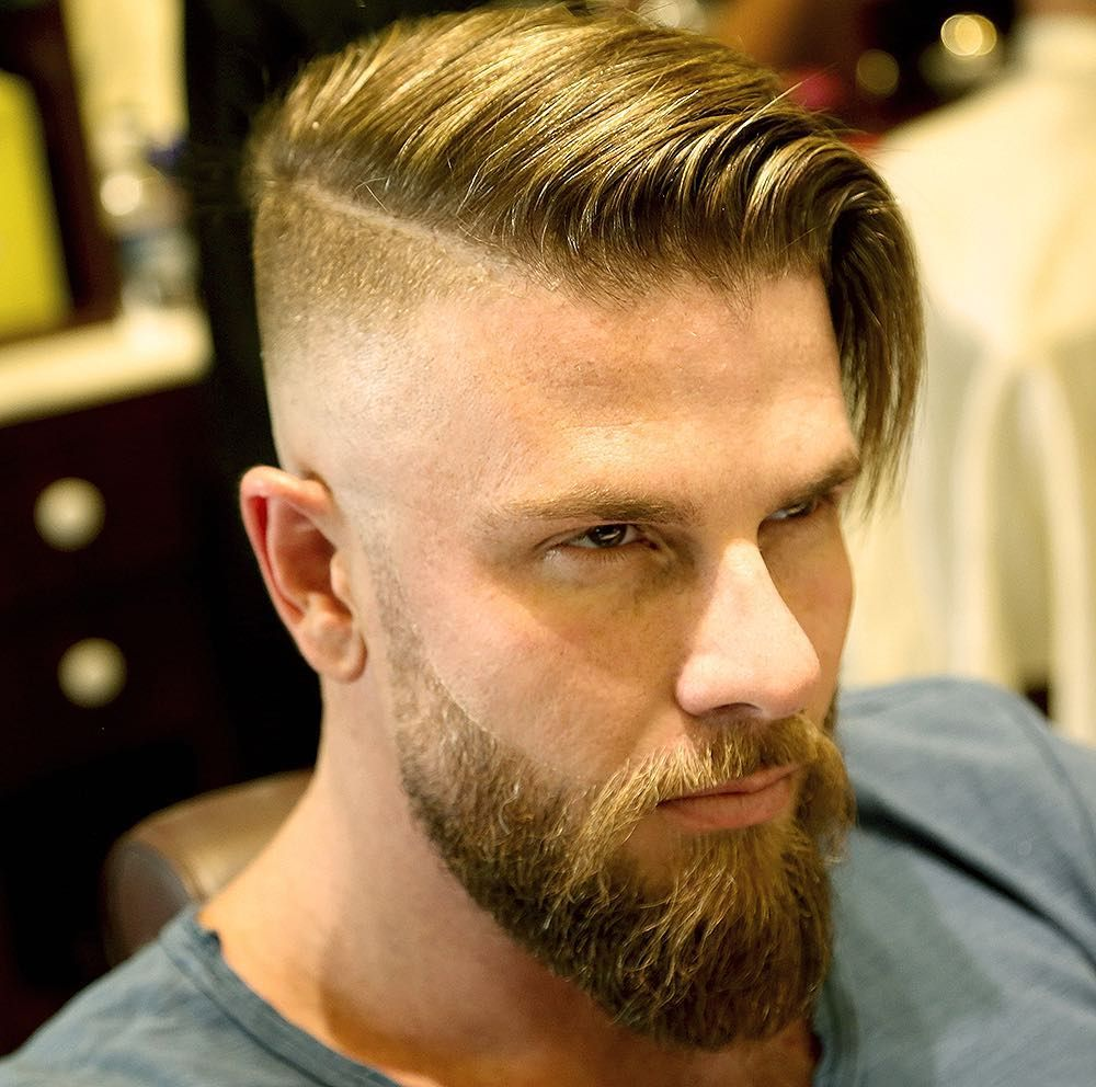Side Part With Beard Disconnected Undercuts Pinterest