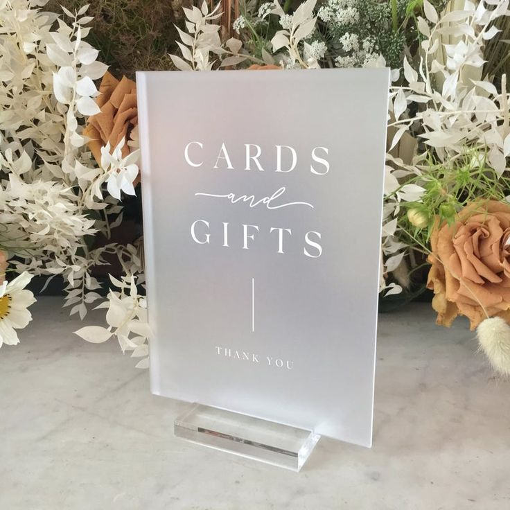 Photo of Frosted Acrylic Cards & Gifts Sign