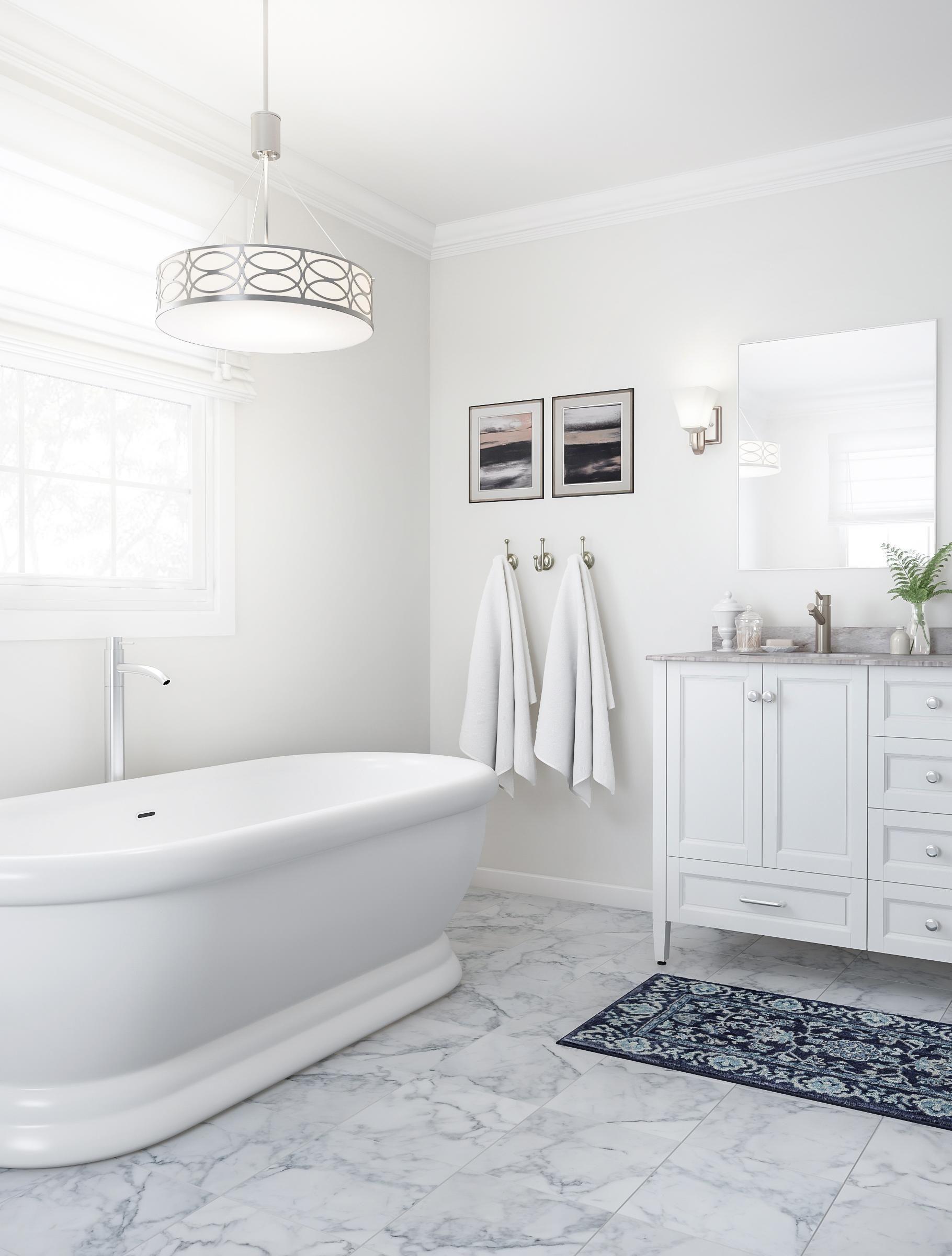 Classic White Bathroom With Pedestal Tub Shower Remodel Bathrooms Remodel Trendy Bathroom