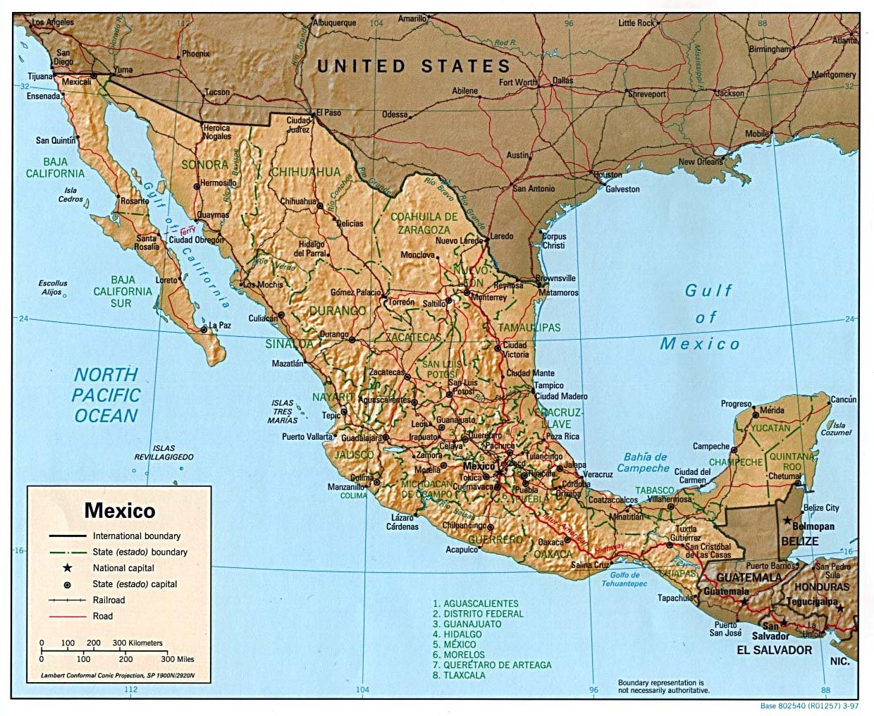 Map Of Mexico And South America Map Of South America And Mexico - Map us and mexico