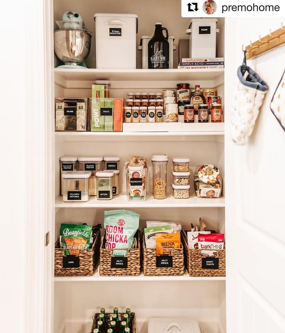 First sneak peek of the before and after pantry that we did for @hunterpremo. Blog post coming soon, until then follow @premohome for lots of home updates.