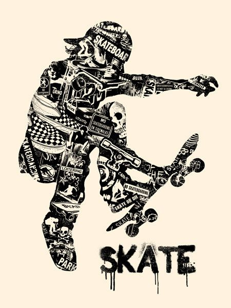 Skate Anatomy Skateboard Skater Ride or Die Extreme by gigart