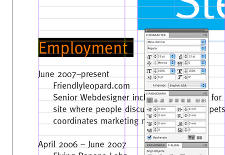 Create a Grid Based Resume/CV Layout in InDesign | Resume cv ...
