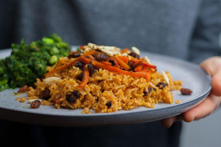 Kabuli Palau Vegan Schnelle Variante Rezept Mangold Muskat Rezept Lebensmittel Essen Einfache Gerichte Essen