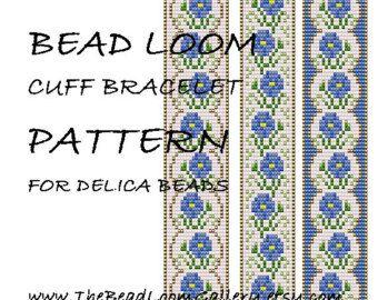 Bead Loom Cuff Bracelet Pattern Vol.15 by thebeadloomgallery