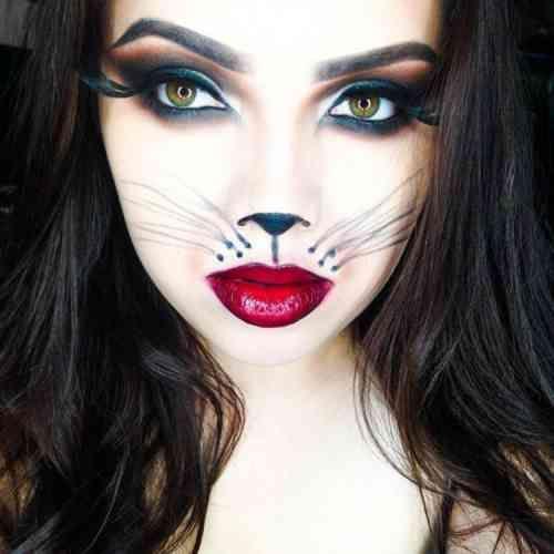 Deguisement Chat Halloween maquillage femme halloween: idées dernière minute