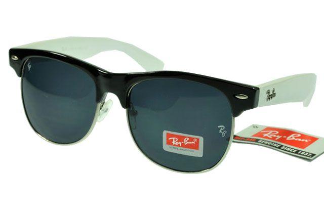 2cbd55fd3ae8d1 Ray-Ban Clubmaster 3016 White Black Frame Black Lens RB1325  RB-1330  -   14.80   Cheap Sunglasses,Cheap Sunglasses On sale