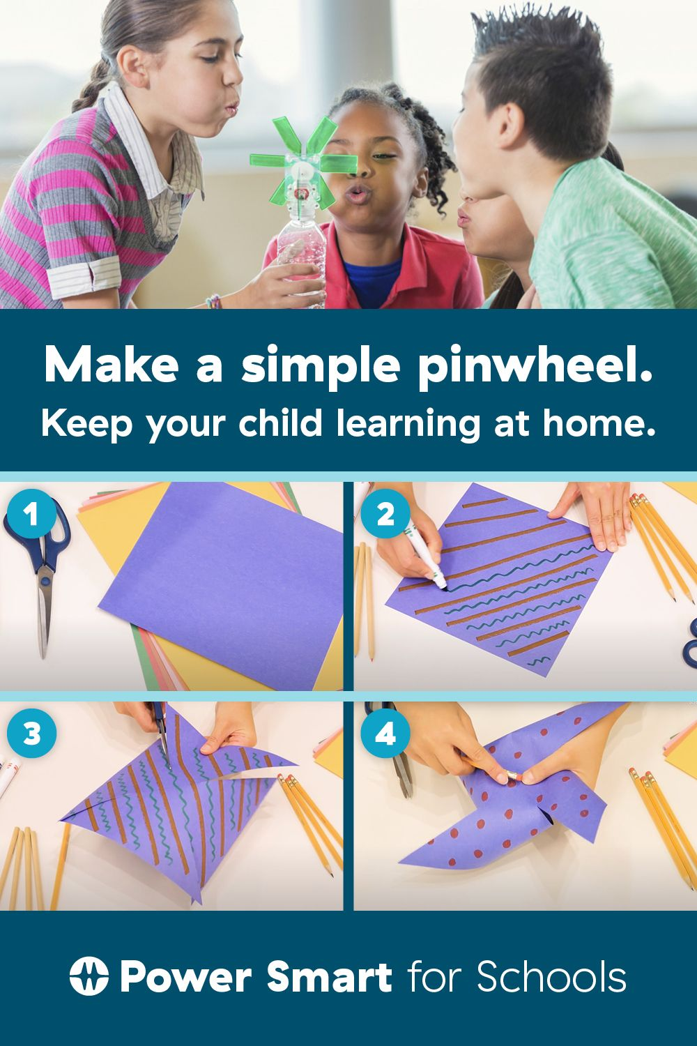 Let's make a pinwheel