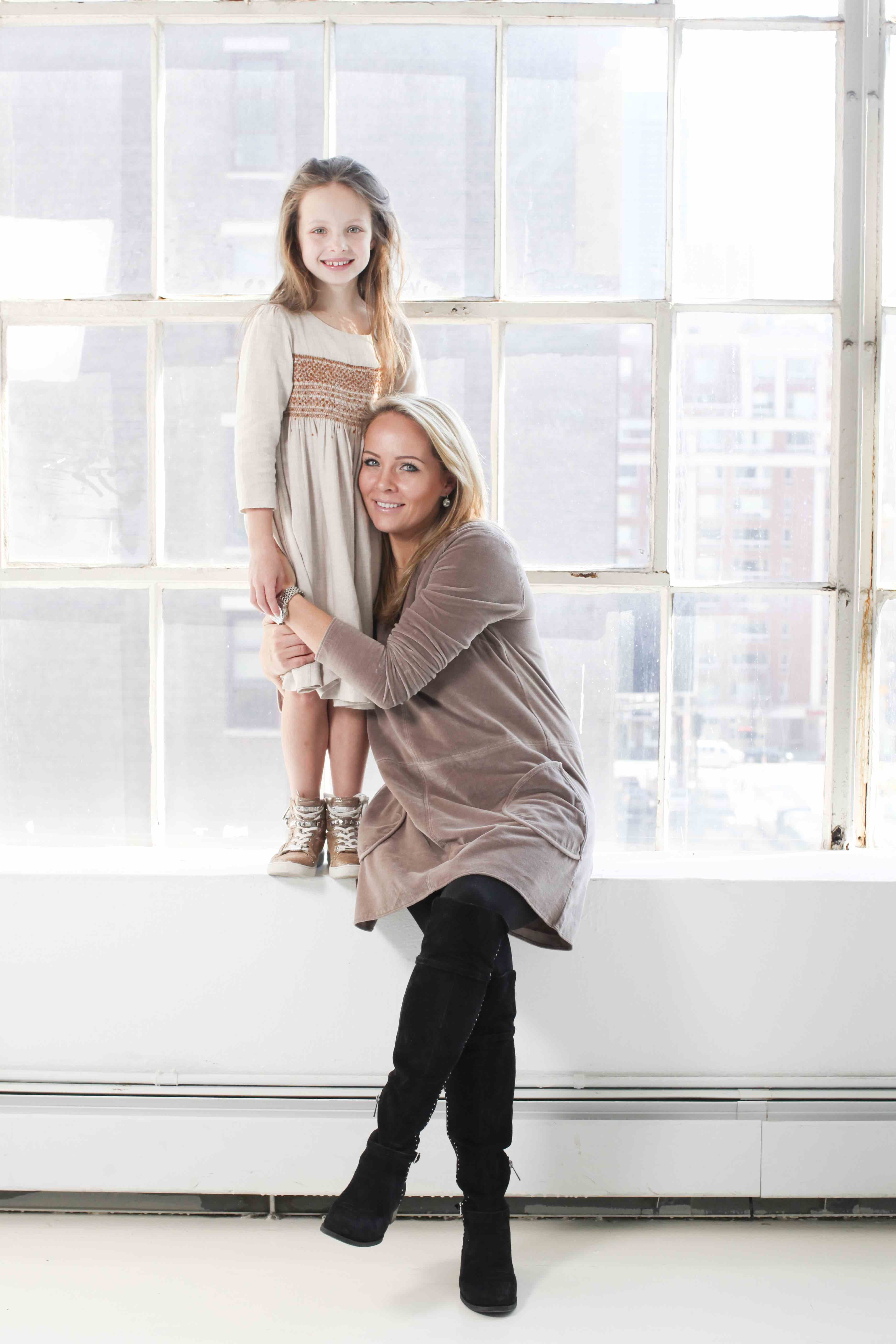 Mother and Daughter art project by Lee Clower shot in NYC