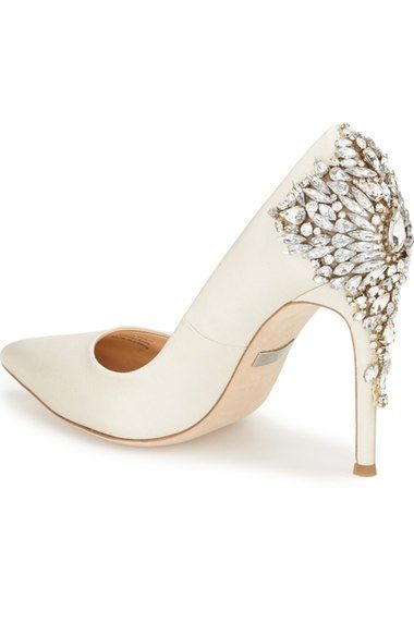 Badgley Mischka Women's 'Gorgeous' Crystal Embellished Pointy Toe Pump 2ovJ8w