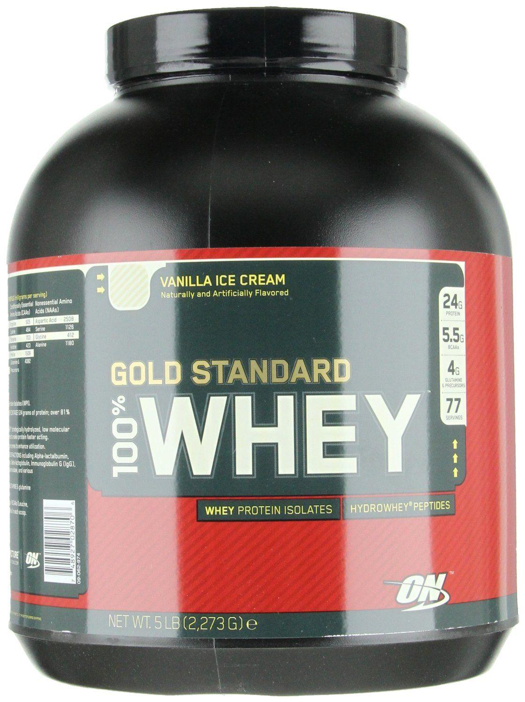 Amazon Com Optimum Nutrition 100 Whey Gold Standard Vanilla Ice Cream 5 Pound Healt Optimum Nutrition Gold Standard High Protein Recipes Optimum Nutrition