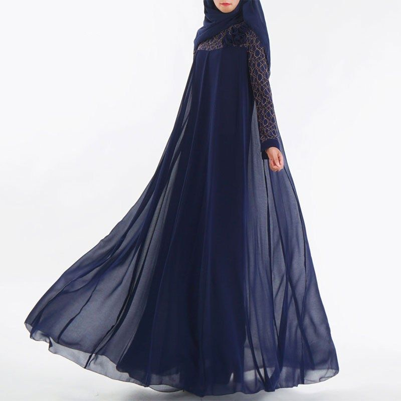 Photo of Fashion Muslim Dress Abaya Islamic Clothing For Women Malaysia Jilbab Djellaba Robe Musulmane Turkish Baju Kimono Kaftan Tunic – TripplePanda