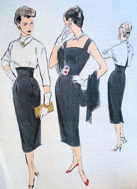 Vintage 1950s Edith Head Hot Little Black By Wearevintagesewing Edith Head Designs Vintage Dress Patterns Vintage Patterns
