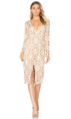 Shop for For Love   Lemons Metz Midi Dress in Latte at REVOLVE. Free 2-3  day shipping and returns 69139c069478
