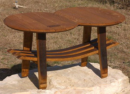 Old Wine Barrels Transform Into A Durable Coffee Table With Lots Of  Character.