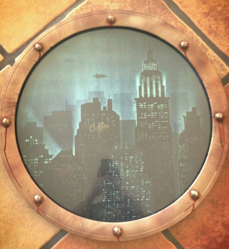 DIY Porthole To Rapture. No Kings, No Gods, Only Man