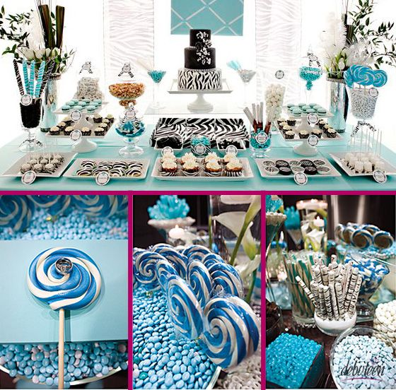 e2829ce156319 Festa azul dos seus sonhos! | 15 años party | Festa azul, Festa e ...