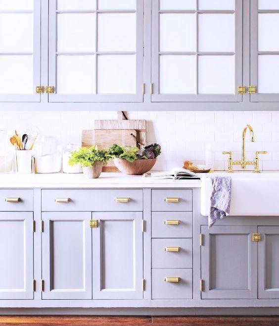 Image result for lavender pastel cabinets   Blue gray ...