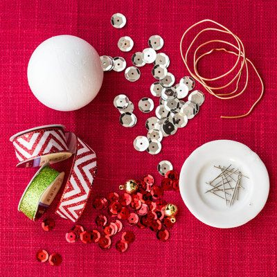Sequin Christmas Ornament Southern living, Christmas ornament and