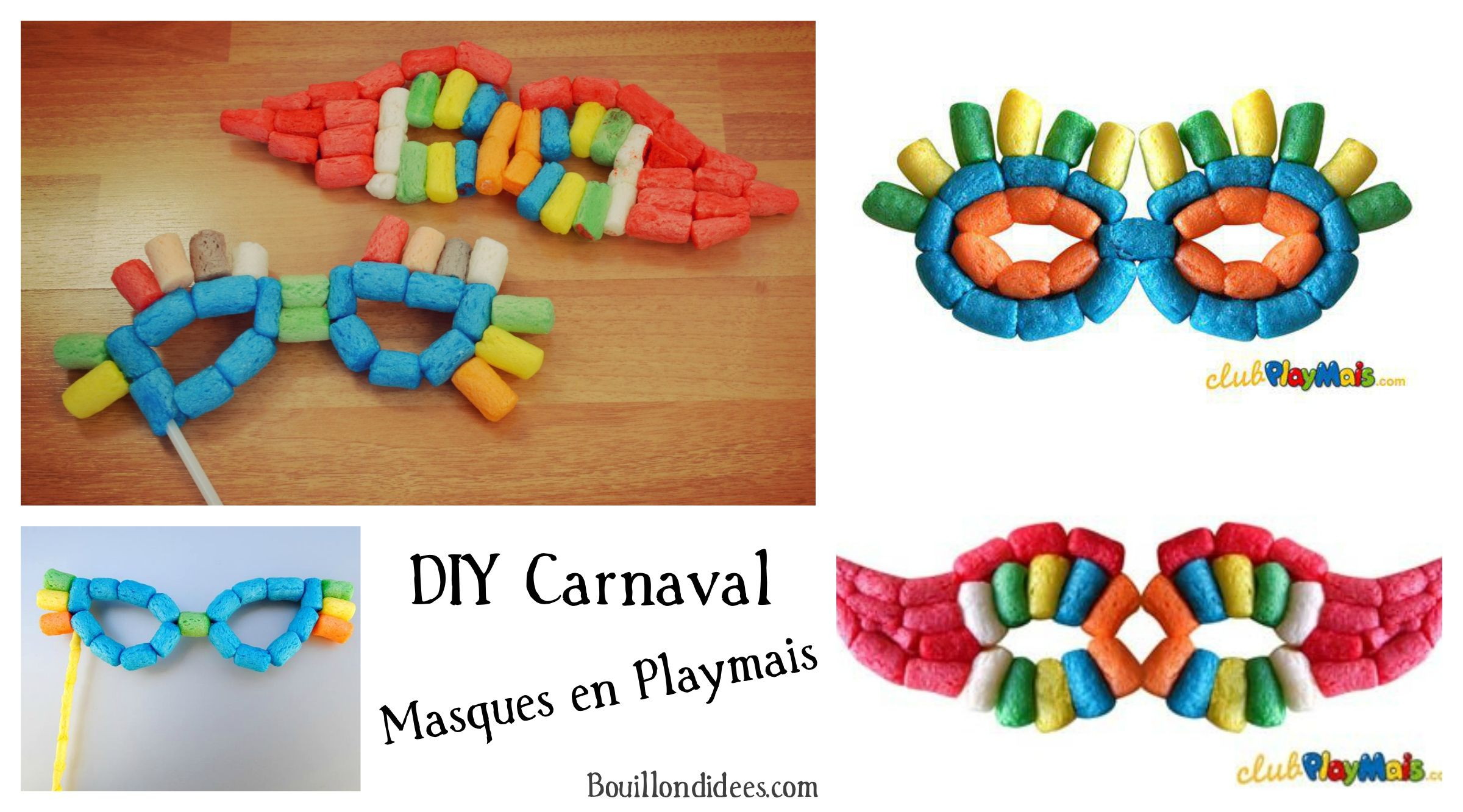 diy bricolage enfant carnaval masque loup en playmais flocons ma s pinteres. Black Bedroom Furniture Sets. Home Design Ideas