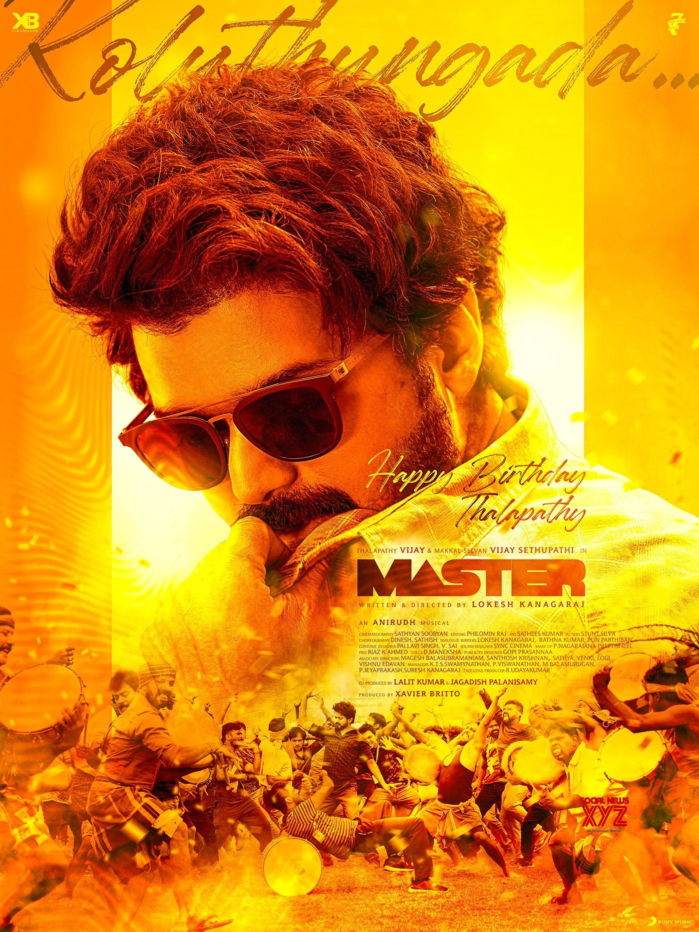 Thalapathy Vijay Birthday 2020 Special Poster From Master Movie Team Social News Xyz Vijay Actor Actors Next Film