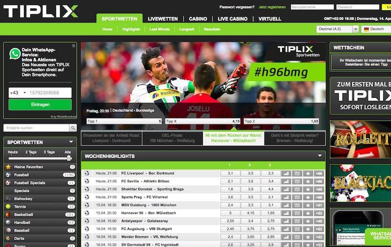 Tiplix Sportwetten