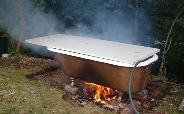 Diy Jacuzzi Bathtub.How To Make A Poor Man S Hot Tub In 2019 Outdoor Tub