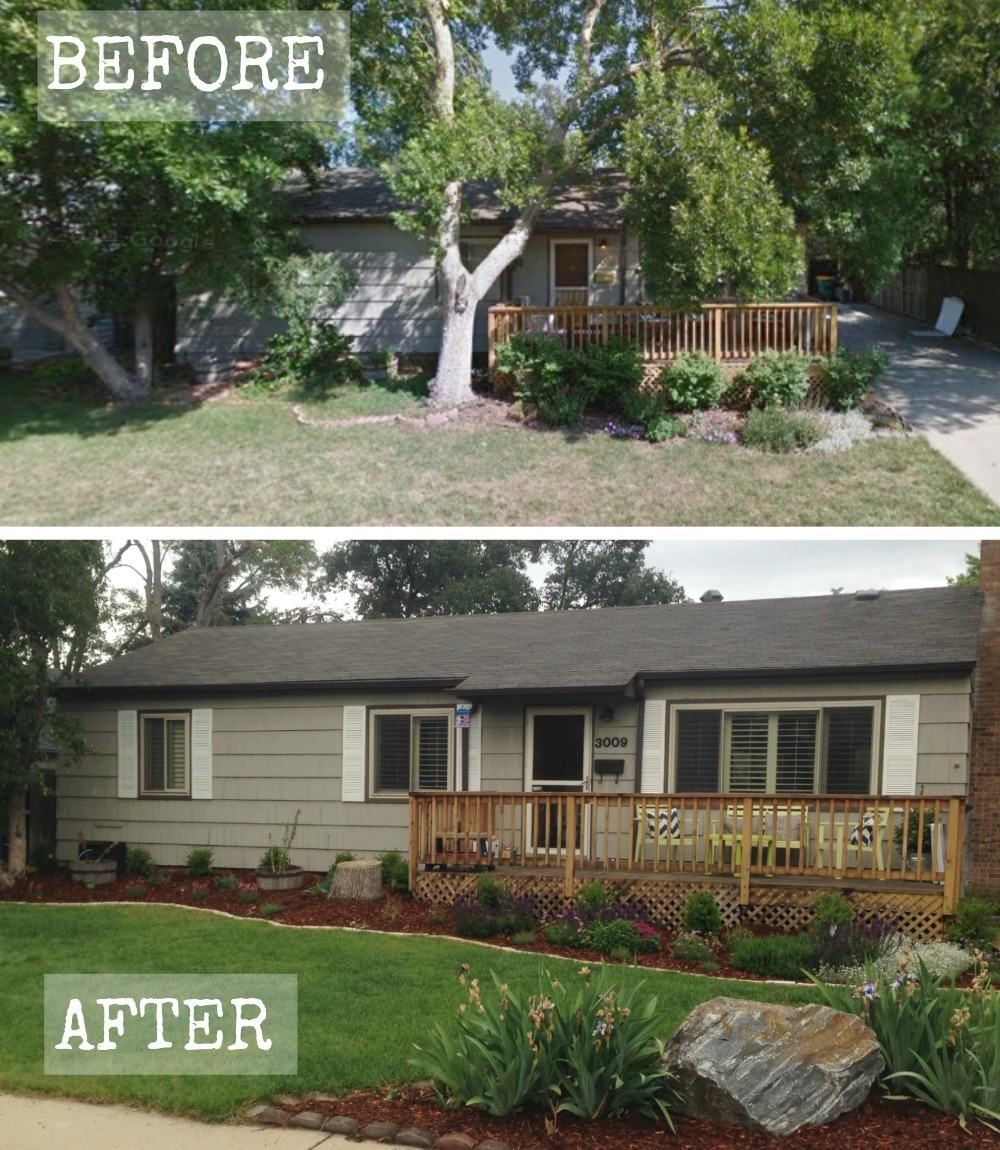 Garage Door Landscaping Ideas: Curb Appeal Transformation Before & After
