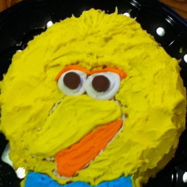 Sesame street cake using vintage Wilton cake pan for my sons 1st birthday party