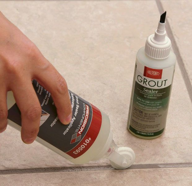 Apply Grout Sealer To Ceramic Tile Grout If You Wish To Give The Grout  Additional Protection Against Discoloration From Spills And Stains.
