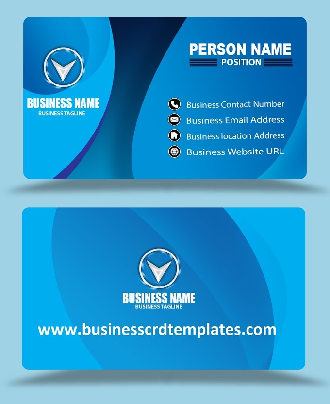 Multi Color Blue Business Card Template Psd Eps Files Format Free Download Blue Business Card Business Card Template Psd Business Card Template