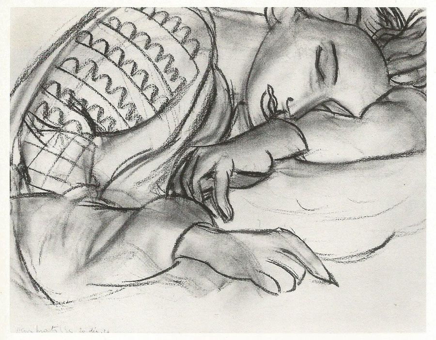 """Above: Henri Matisse """"Branch of a Judas Tree"""", 1942, charcoal on paper, 25.2×39.4cm   Writing in 1947 about some fig leavesthat he was drawing, Matisse described how h…"""