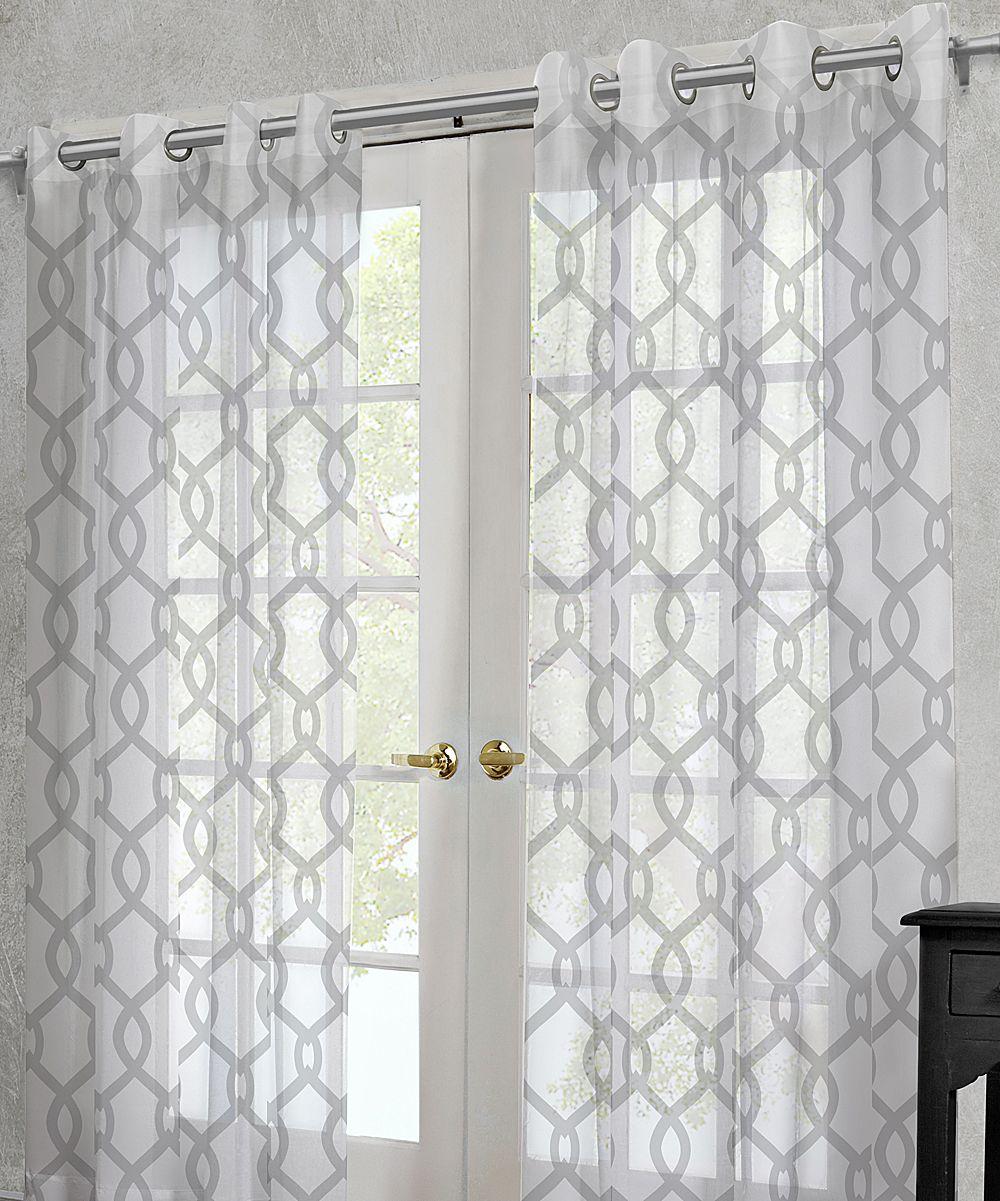 Threshold linen grommet sheer curtain panel product details page - Residence White Rio Sheer Grommet Panel Set Of Two