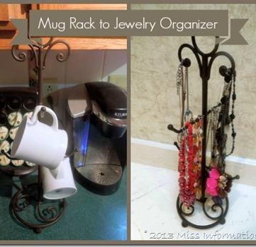 The Best Way To Organize Jewelry Jewellery Organization - Best coffee mug organization ideas
