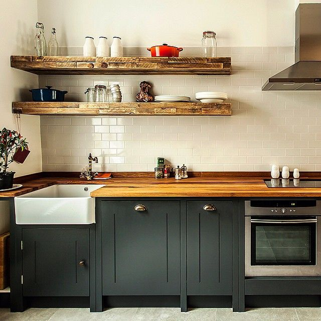 Best Tough Love Cupboards Painted In Farrow Ball Off Black 400 x 300