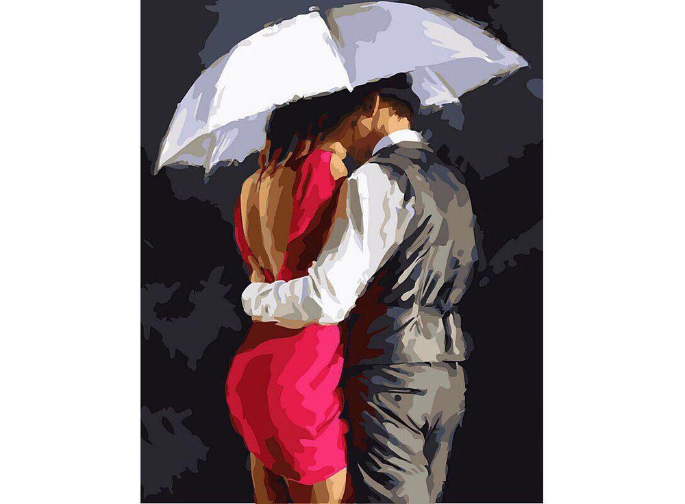 Картина по номерам «Под белым зонтом» | Картины, Раскраски ...