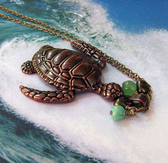 Gorgeous turtle necklace!
