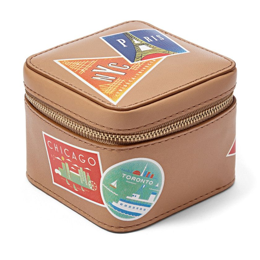 Fossil Jewelry Box Where has your jewelry been Great gift for