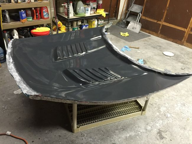 making a carbon fiber fibre hood fenders for mustang - promoted by