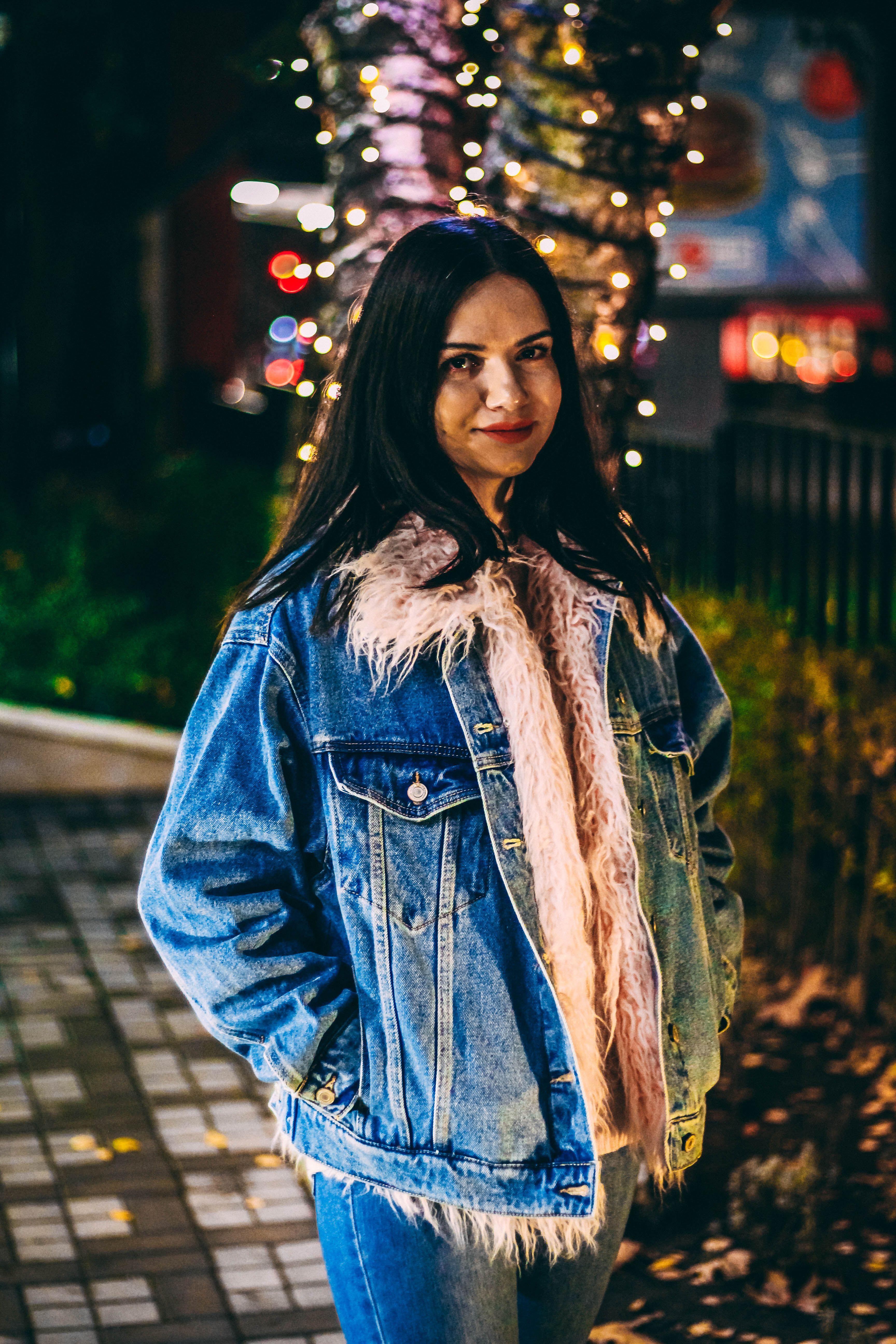 Winter Denim Jacket With Pink Faux Fur Denim Outerwear Denimjacket Denimstyle Fauxfur Fauxfurjacket Bersh Denim Jacket Winter Denim Fashion Steet Style [ 5184 x 3456 Pixel ]