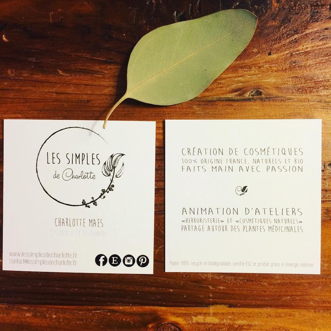 Lessimplesdecharlotte Cartedevisite Nature Papierecologique Businesscards Ecologicpaper Nouvelles Cartes De Visite