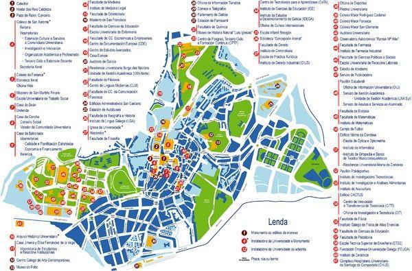 cool Map of Santiago Tourist  Travelquaz  Pinterest  Santiago