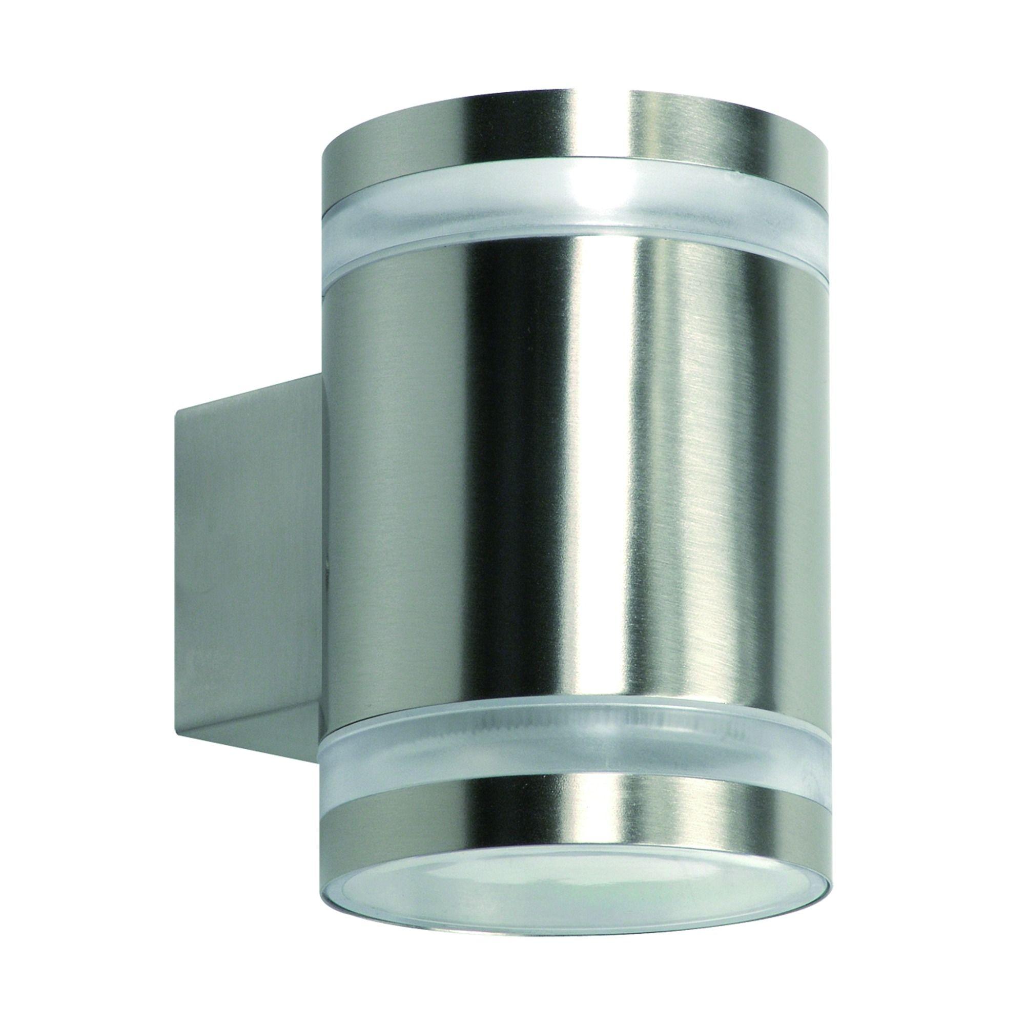 Buitenlamp Met Sensor Gamma.Gamma Wandlamp Bristol Met 2 Ledlampen Gx53 9w Inox