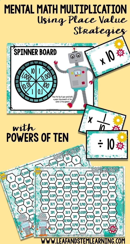 Mental Math | Multiplication using place value strategies | Math ...