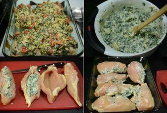 Куриное филе с начинкой | Рецепты филе, Рецепты куриного ...