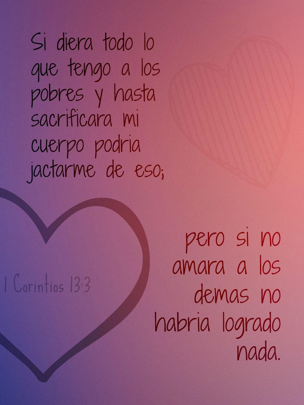 Versiculos De La Biblia De Animo: 1 Corintios 13:3, Versículo Biblico