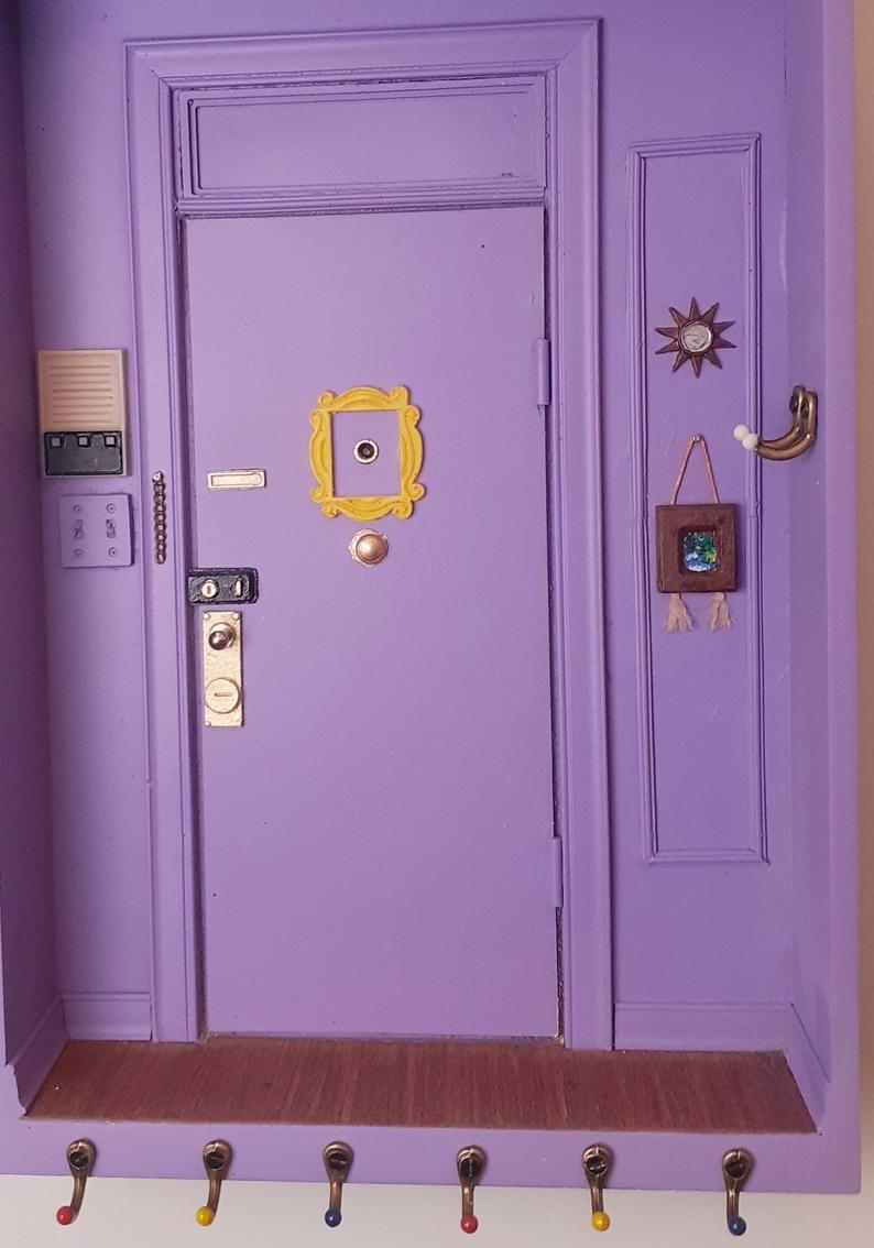 Monica's apartament door miniature key holder. Friends TV ...