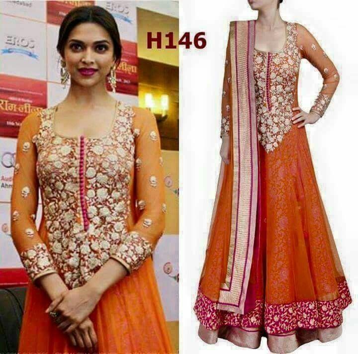 Orange n pink | Bollywood fashion, Deepika padukone ...