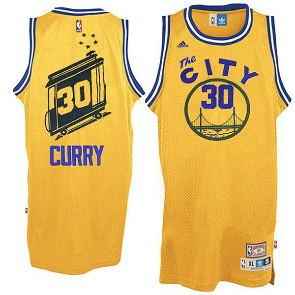 Stephen #Curry Jersey - Golden State Warriors The City Yellow #Throwback # Jersey.