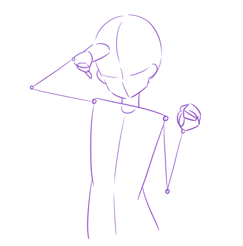 初心者のなぜか上手く描けないを解決ポーズの描き方テクニック編